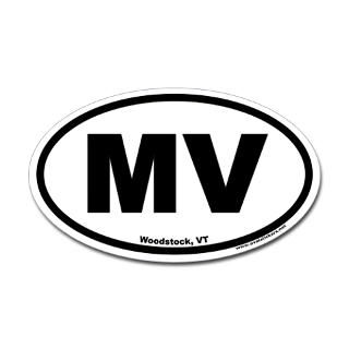 woodstock vermont mv euro oval sticker $ 4 49