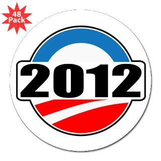 2012 Barack Obama Lapel Sticker (48 pk)