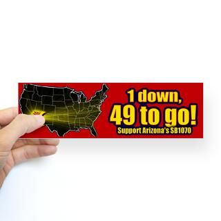 down 49 to go Sticker (Bumper) for