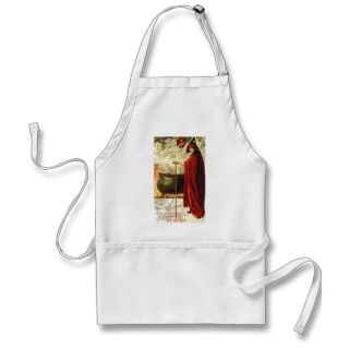 Halloween Caldron   Ghost and Goblin Poem Apron