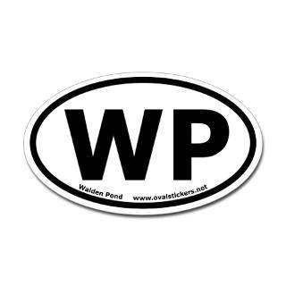 walden pond wp oval car sticker $ 4 49