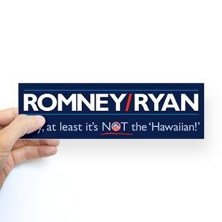 romney ryan not hawaiian sticker bumper $ 4 49