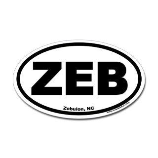 zebulon nc zeb oval sticker $ 4 49