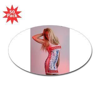 Budweiser Girl Oval Sticker (50 pk)