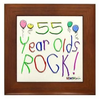 55 Year Old Birthday Party Framed Art Tiles  Buy 55 Year Old Birthday