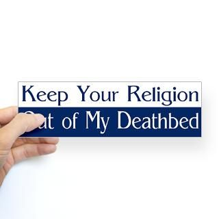 keep your religion out bumper sticker $ 4 65