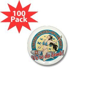 patriotic pinup girl mini button 100 pack $ 71 99