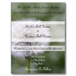 Wild Flowers Wedding Invitations and Favors Post Card