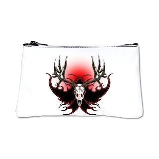 mule deer,skull red eye 14 Square Coaster