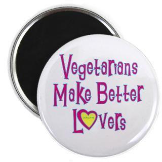 vegetarians make better lovers magnet $ 3 74