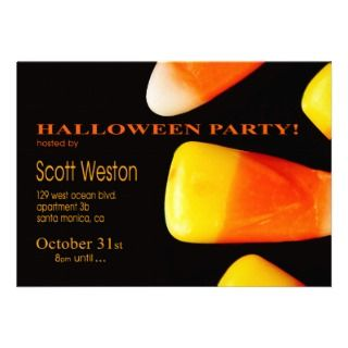 Halloween Candy Funky Costume Party Invitations