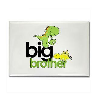 big brother t shirt dinosaur Rectangle Magnet