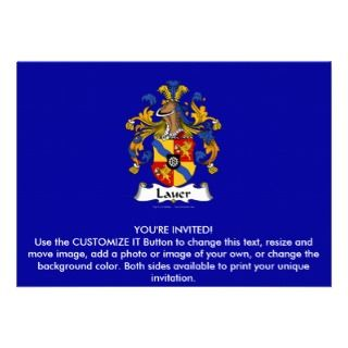 Lauer Family Crest Invitation