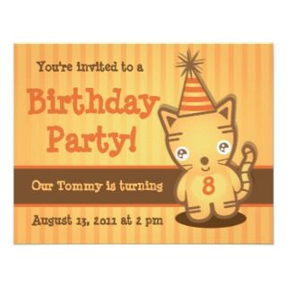 Cute Tiger Cub Birthday Party Invitation