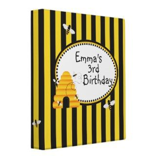 Beehive Bumble bee Birthday Favor Stickers