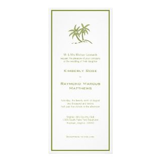 Twin Palm Trees Wedding Invitations