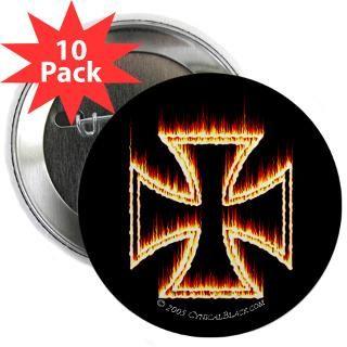 flames iron cross 2 25 button 10 pack $ 23 98