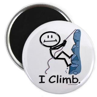 Rock Climbing  BusyBodies Stick Figure T shirts and unique Gifts