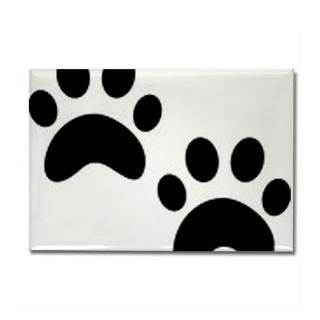 Cat Paw Prints Rectangle Magnet