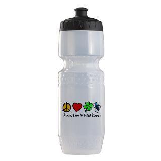 Peace Love Irish Dance Gifts  Peace Love Irish Dance Water Bottles