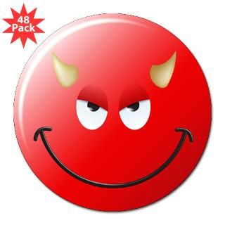 Devil Smiley Face 3 Lapel Sticker (48 pk)