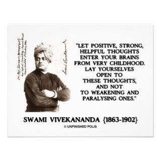 Swami Vivekananda Positive Strong Helpful Thoughts Announcement