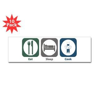 Eat Sleep Cook 3 Lapel Sticker (48 pk)