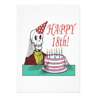 Happy 18th Birthday Invitations, Announcements, & Invites