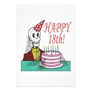 Happy 18th Birthday Invitations, Announcements, & Invites