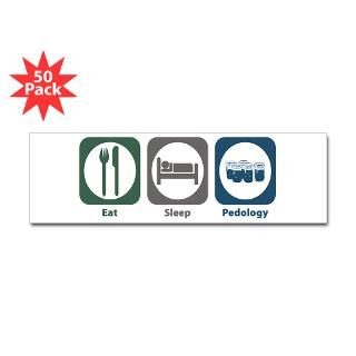 eat sleep pedology bumper sticker 50 pk $ 149 99
