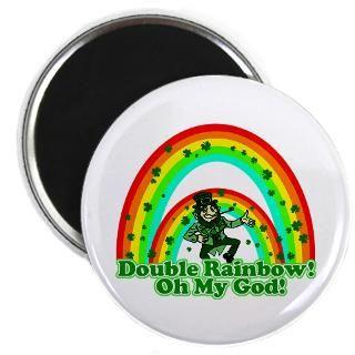 Double Rainbow Oh My God  Shamrockz   Funny St Patricks Day T
