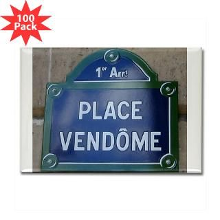 Parisian Street Sign Design Rectangle Magnet (100  Parisian Street