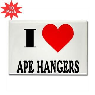 Love Ape Hangers! Rectangle Magnet (10 pack)