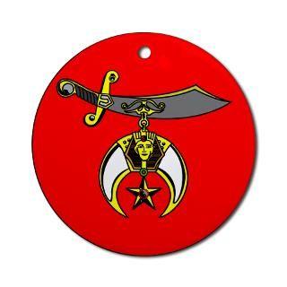 Shriner Emblem Ornament (Round)