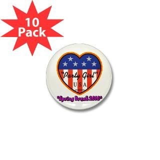 Party Girl USA Spring Break Mini Button (10 pack)