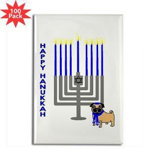 happy hanukkah rectangle magnet 100 pack $ 164 99