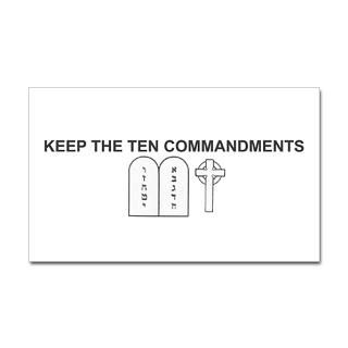 Ten Commandments Stickers  Car Bumper Stickers, Decals