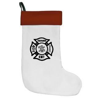 Firefighter EMT Christmas Stocking
