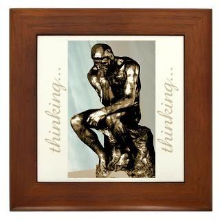 Thinking Man Sculpture Framed Art Tiles  Buy Thinking Man Sculpture