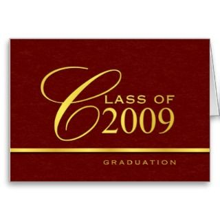 Elegant Graduation Card   Invitations