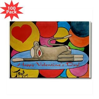 valentine sock monkey rectangle magnet 100 pack $ 167 99