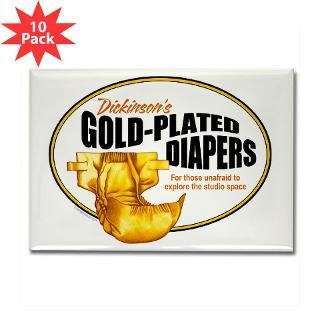 Gold plated diapers Rectangle Magnet (10 pack)