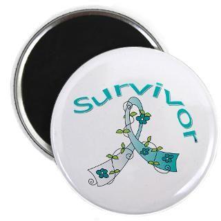 Cervical Cancer Floral Ribbon Survivor Shirts  Gifts 4 Awareness