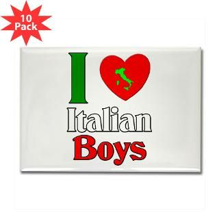 Love Italian Boys Rectangle Magnet (10 pack)