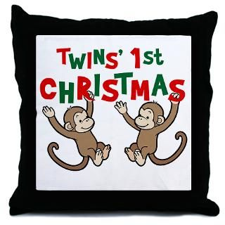Twins First Christmas   Monkey  Big Brother / Sister and new baby