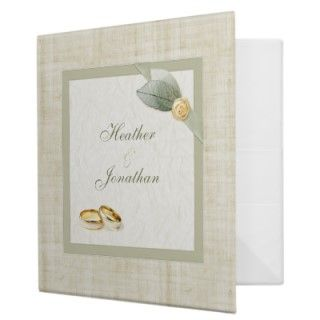Personalized wedding planner binder in scrapbook style with beautiful