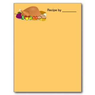 Extra Large Tucker Turkey Chef Recipe Card Post Card