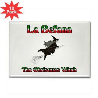 La Befana The Christmas Witch Rectangle Magnet (10