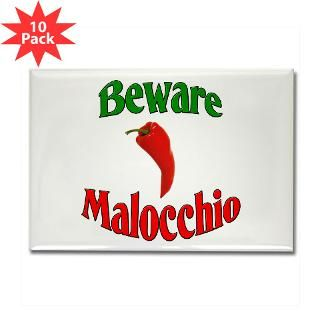 Beware Malocchio Rectangle Magnet (10 pack)