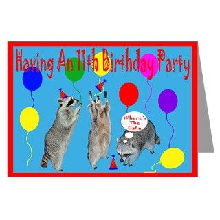 Birthday Party Greeting Cards  Invitation To 11th Birthday Party Card
